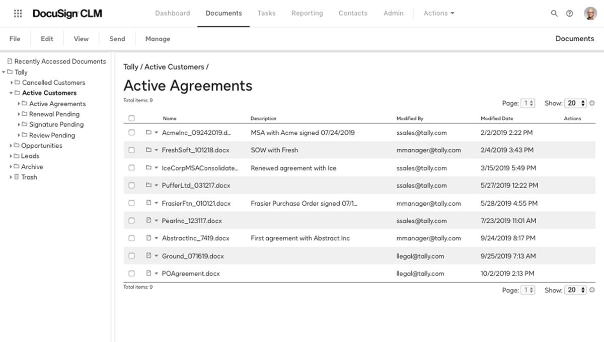 Captura de pantalla de un repositorio para buscar contratos activos en el sistema