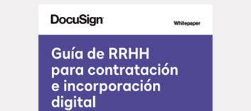 Imagen de la guía de RRHH para la contratación y la incorporación digital.
